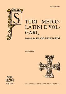 Studi mediolatini e volgari (2013). Vol. 59