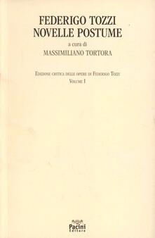 Novelle postume - Federigo Tozzi - copertina