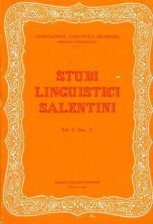 Voluntariadobaleares2014.es Studi linguistici salentini. Vol. 5 Image