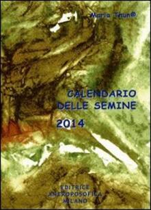 Promoartpalermo.it Calendario delle semine 2014 Image