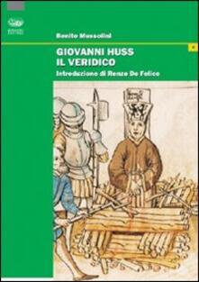 Giovanni Huss il veridico - Benito Mussolini - copertina