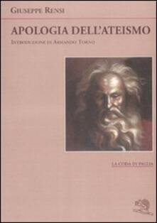 Apologia dell'ateismo - Giuseppe Rensi - copertina