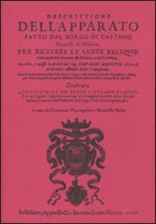 Descrittione dell'apparato fatto dal borgo di Castano (rist. anast. Milano, 1610) - Giovanni Magistri - copertina