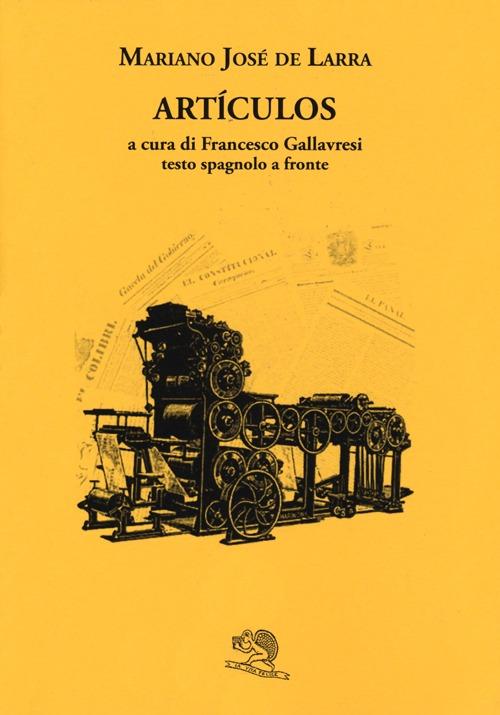 Artículos. Testo spagnolo a...