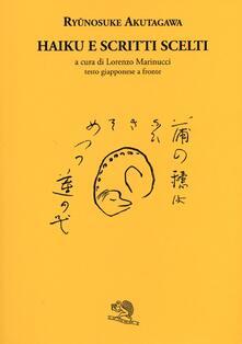 Parcoarenas.it Haiku e scritti scelti. Testo giapponese a fronte Image