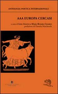AAA Europa cercasi. Antologia poetica internazionale