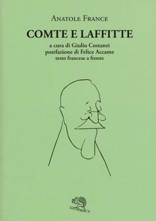 Comte e Laffitte. Testo francese a fronte - Anatole France - copertina