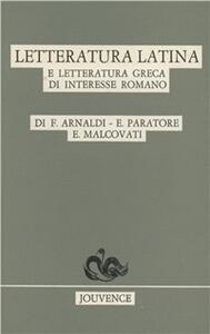 Letteratura latina e letteratura greca di interesse romano
