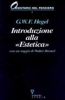 Introduzione alla «Estetica» - Friedrich Hegel - copertina