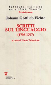Scritti sul linguaggio (1795-1797)