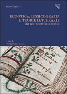 Osteriamondodoroverona.it Ectodica, lessicografia e teorie letterarie dei testi scientifici e tecnici Image