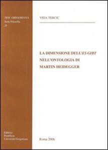 La dimensione dell'Es Gibt nell'ontolologia di Martin Heidegger