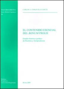 El contenido esencial del bonum prolis