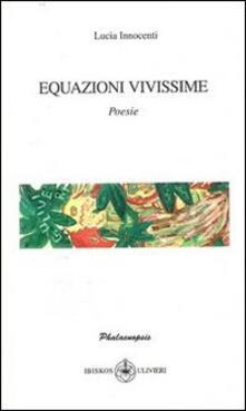 Equazioni vivissime - Lucia Innocenti - copertina