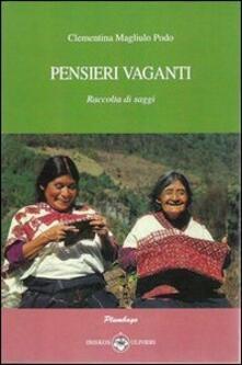 Pensieri vaganti - Clementina Magliulo Podo - copertina