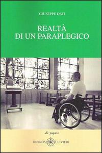 Realtà di un paraplegico - Giuseppe Dati - copertina