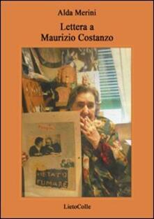 Lettera a Maurizio Costanzo - Alda Merini - copertina