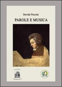 Parole e musica - Davide Puccini - copertina