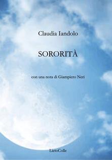 Sororità - Claudia Iandolo - copertina