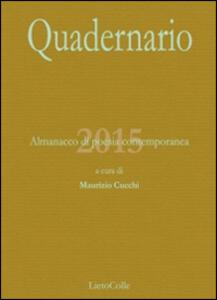 Quadernario 2015. Almanacco di poesia