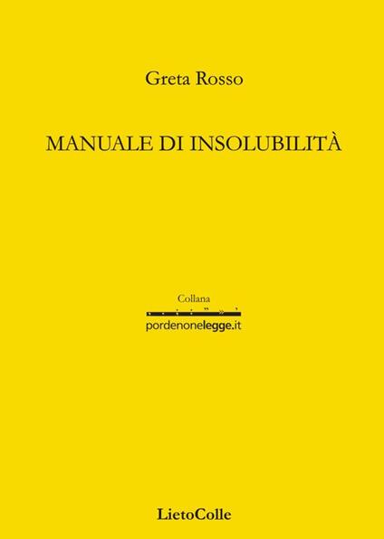 Manuale di insolubilità - Greta Rosso - copertina