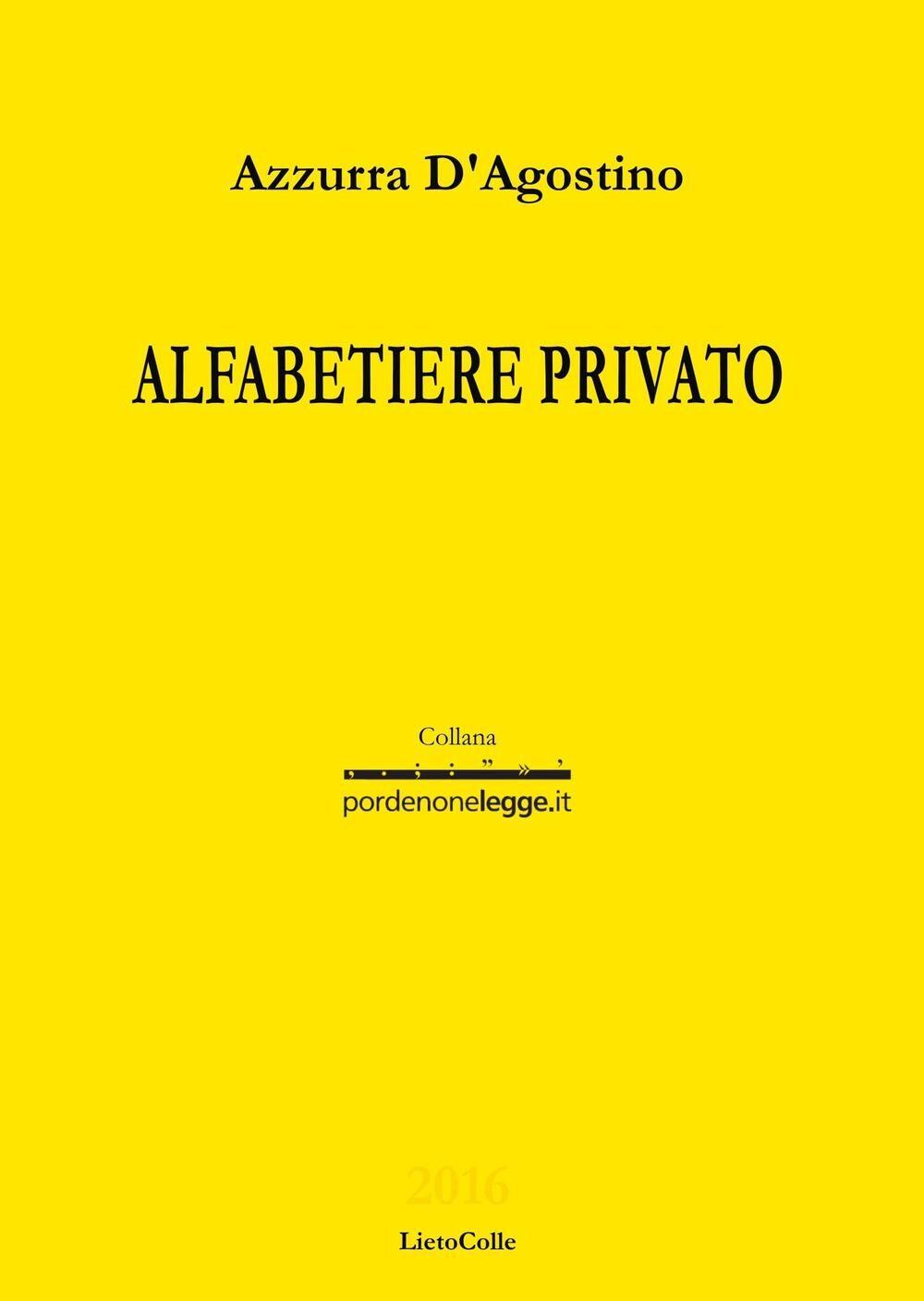 Alfabetiere privato