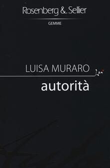 Autorità - Luisa Muraro - copertina
