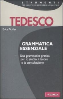 Grammatica essenziale. Tedesco. Ediz. bilingue - copertina