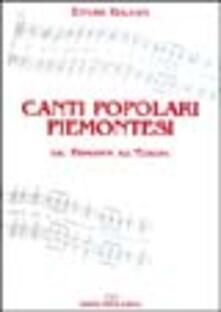 Promoartpalermo.it Canti popolari piemontesi. Dal Piemonte all'Europa. Con CD Audio. Vol. 1 Image