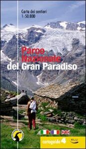 Cartoguida del parco nazionale del Gran Paradiso. La cartoguida dei sentieri 1:50.000 - copertina