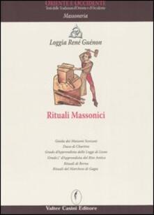 Rituali massonici - copertina