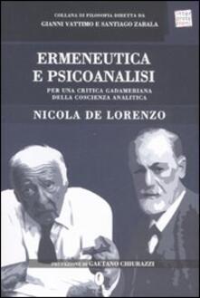 Voluntariadobaleares2014.es Ermeneutica e psicoanalisi. Per una critica gadameriana della coscienza analitica Image