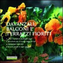 Davanzali, balconi e terrazzi fioriti - Magda Schiff - copertina