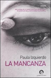 La mancanza - Paula Izquierdo - copertina