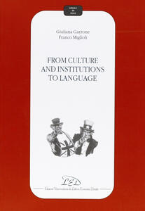 From culture and institutions to language