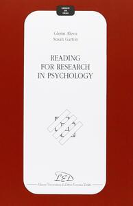Libro Reading for research in psychology Glenn Alessi Susan Garton