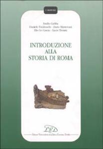 Introduzione alla storia di Roma - Emilio Gabba - copertina