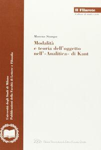 Modalità e teoria dell'oggetto nell'«Analitica» di Kant