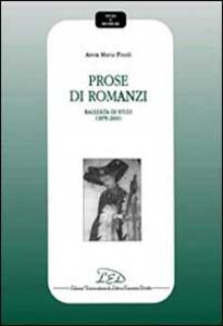 Prose di romanzi. Raccolta di studi (1979-2000) - Anna M. Finoli - copertina