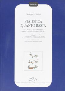 Statistica quanto basta. Una scatola degli attrezzi per gli studi economici e sociali. Vol. 1: La grammatica della variabilità. - Giuseppe A. Micheli - copertina