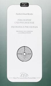 Philosophie und psycologie-Filosofia e psicologia. Introduzione, testo e traduzione. Testo tedesco a fronte