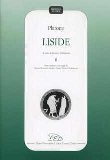 Osteriacasadimare.it Platone. Liside. Vol. 2 Image