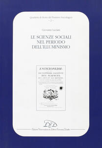 Le scienze sociali nel periodo dell'illuminismo - Giovanni Luciani - copertina