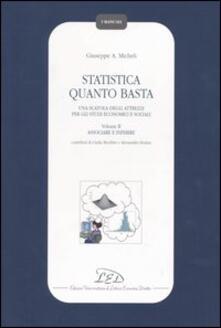 Winniearcher.com Statistica quanto basta. Una scatola degli attrezzi per gli studi economici e sociali. Vol. 2: Associare e inferire. Image