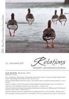 Relations. Beyond Anthropocentrism. Vol. 5, No. 2 (2017). Food: shared life: Part II