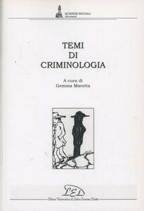 Temi di criminologia - copertina