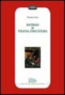 Materiali di finanza comunitaria - Tommaso Cozzi - copertina