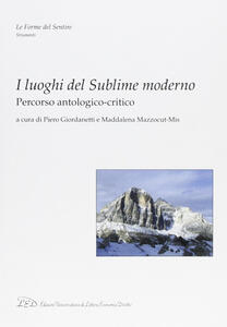 I luoghi del sublime moderno. Percorso antologico-critico - copertina