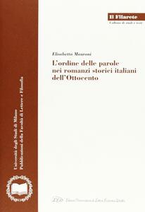 L' ordine delle parole nei romanzi storici italiani dell'Ottocento