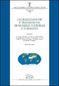 Globalizzazione e trasmissione di modelli culturali e formativi (2001-2002) - copertina